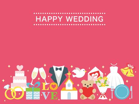 Happy wedding greeting card royalty free cliparts vectors and happy wedding greeting card vector m4hsunfo