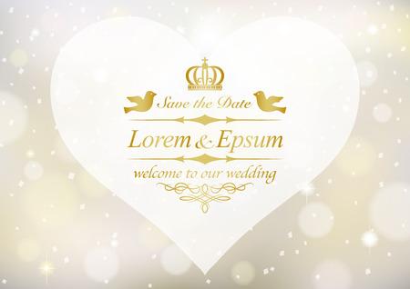 Vintage wedding invitation card 일러스트