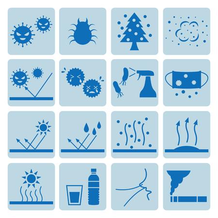 Icon set of allergy