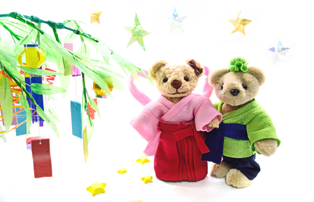 2 way: Japanese tradition event Tanabata Stock Photo