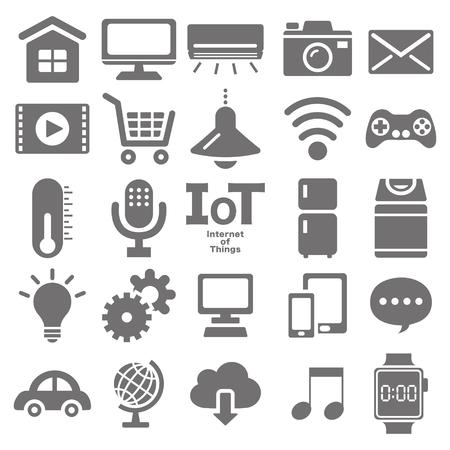 Internet of things icon set 向量圖像