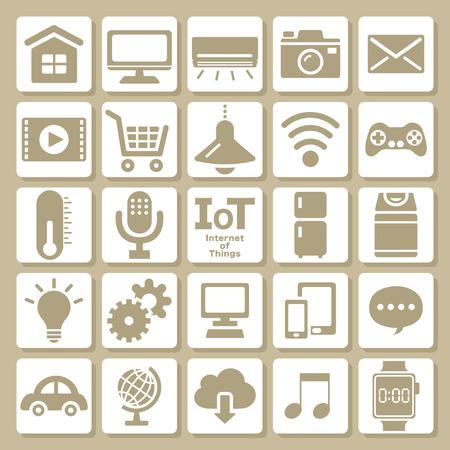 インターネットのアイコンを設定するもの  イラスト・ベクター素材