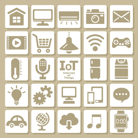 Internet of things icon set Illustration