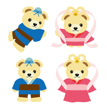 Bears who became Orihime and Hikoboshi at the Tanabata legend