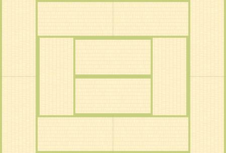 Struttura giapponese di tatami del pavimento di stile Archivio Fotografico - 79399609
