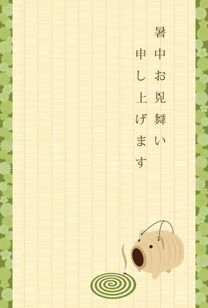 Japanese summer greeting card