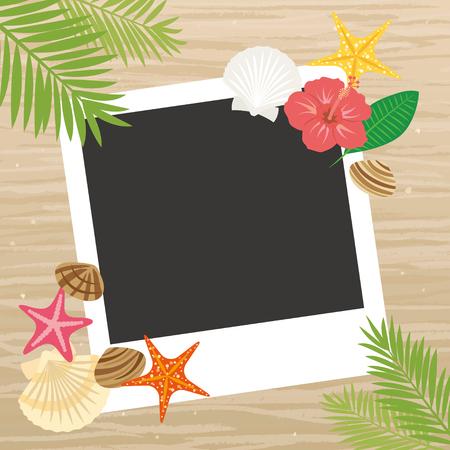 Summer beach frame Illustration