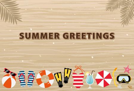 ビーチの夏のグリーティング カード