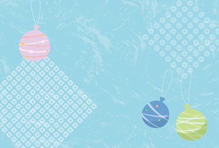 Japanese summer greeting card Illustration