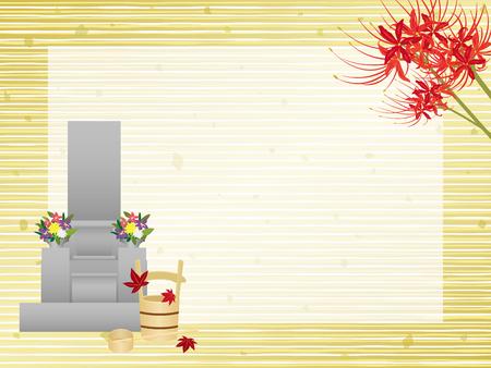 日本の秋分日ベクター フレーム  イラスト・ベクター素材