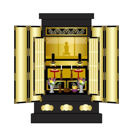 Illustration d'illustration d'autel bouddhiste Vecteurs