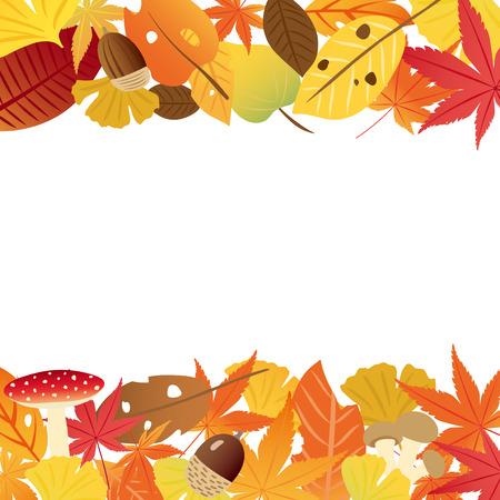 Autumn leaves vector frame 向量圖像