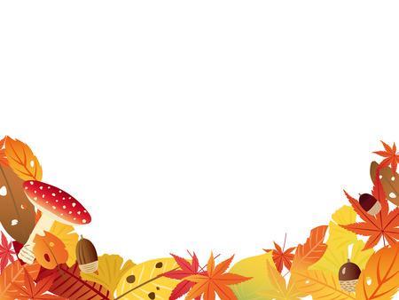 Autumn leaves vector frame Illustration