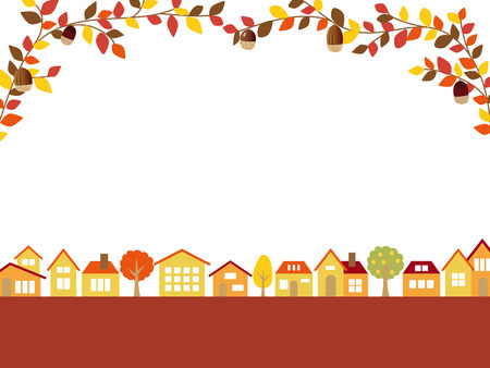 Autumn townscape vector background 矢量图像