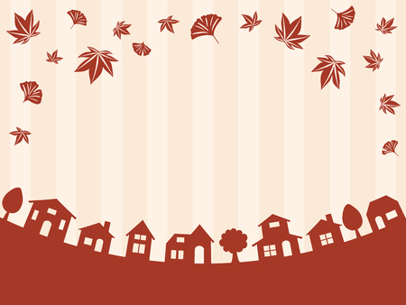 townscape: Autumn townscape vector background Illustration