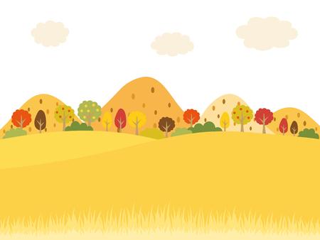 suburban: Landscape in the autumn suburbs vector background