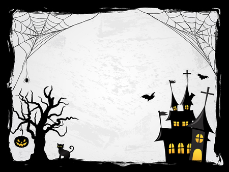 Halloween creepy vector frame Stock Illustratie