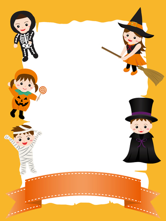 Children in a Halloween costume