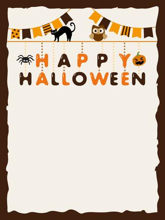 Halloween garland vector frame Illustration