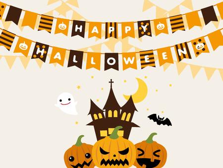 Halloween garland vector frame 向量圖像