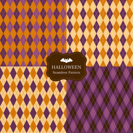 argyle: Argyle pattern set of halloween color.