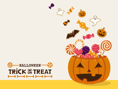 Halloween sweets vector illustration
