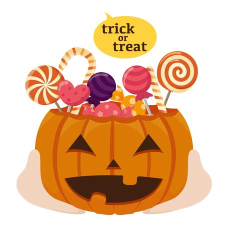 Trick or treat on halloween
