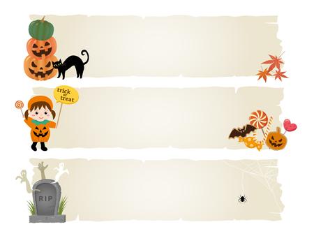 spider web: Happy halloween vector banner set Illustration