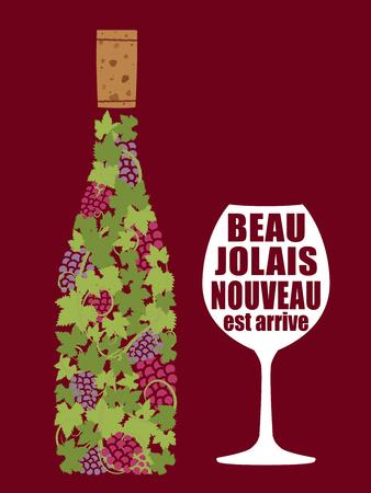 Beaujolais nuevo vector de fondo Foto de archivo - 85547450