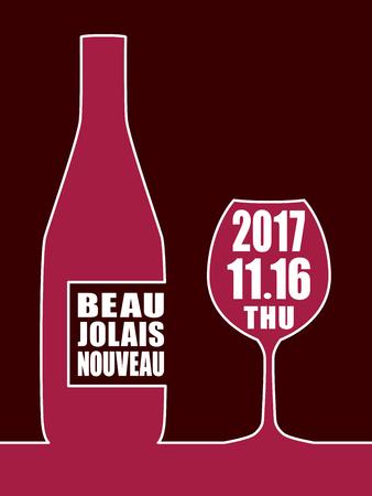 Beaujolais nouveau vector background Stock Vector - 85482639