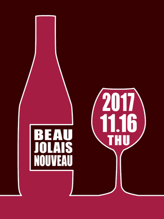 Beaujolais nouveau vector background