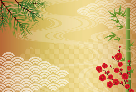 Japanese congratulations vector background
