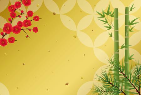 Japanese congratulations vector background