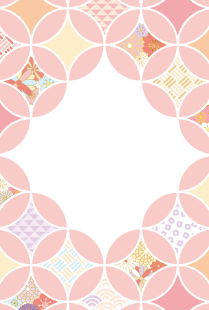 Japanese traditional pattern background 矢量图像