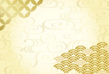 Japanese traditional pattern background Illustration
