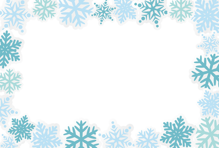 Snowflake vector frame background