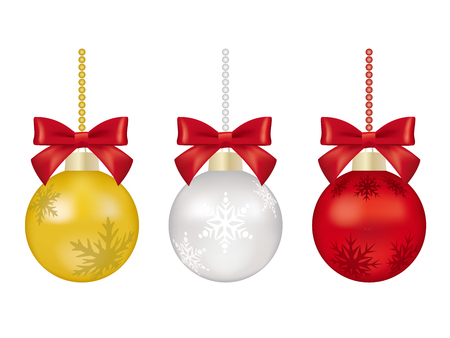 Christmas ball ornament on isolated background