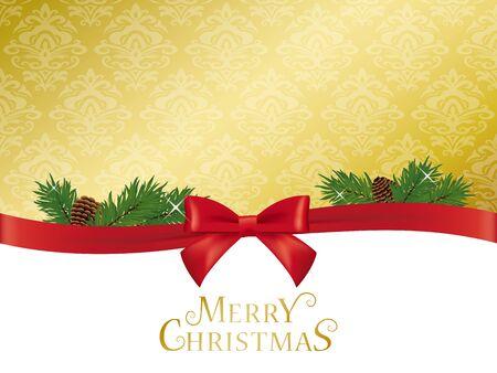 Classic Christmas vector background Ilustração