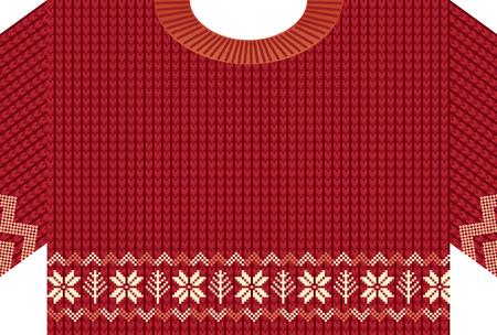 ノルディックパターンニットセーターのグリーティングカード