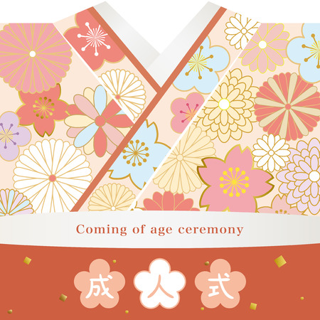 Kimono to wear in coming of age  ceremony in Japan