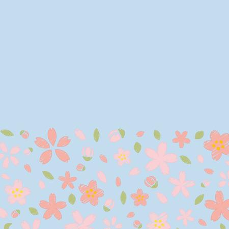 Floral pattern on blue background 向量圖像
