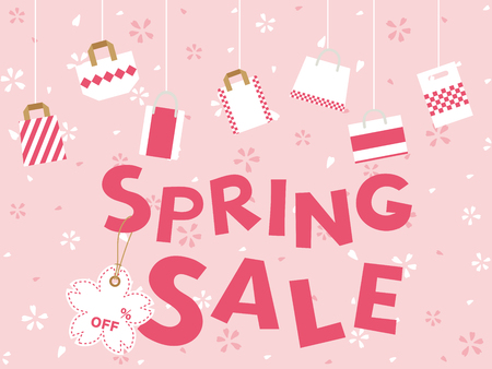 Spring sale poster.