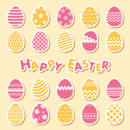 Easter egg vector icon set. Stock fotó - 97206953