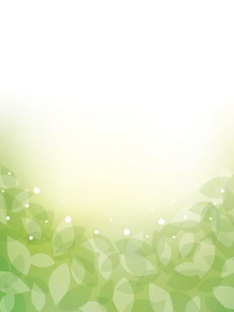 Fresh green frame Vector illustration.