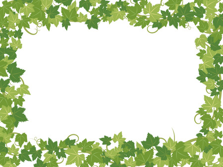 Fresh ivy leaves vector frame.  イラスト・ベクター素材