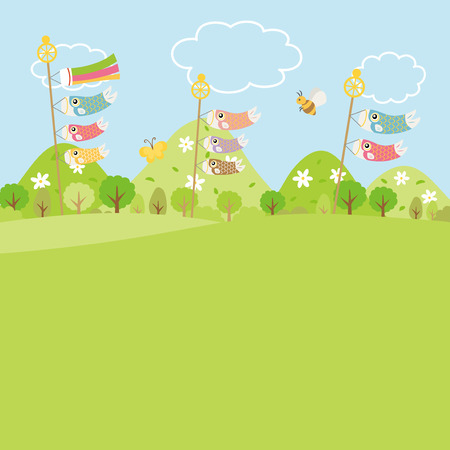 Childs day vector background colorful design