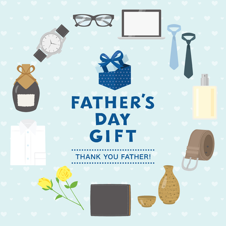 Father's day gift advertisement vector poster. Ilustrace