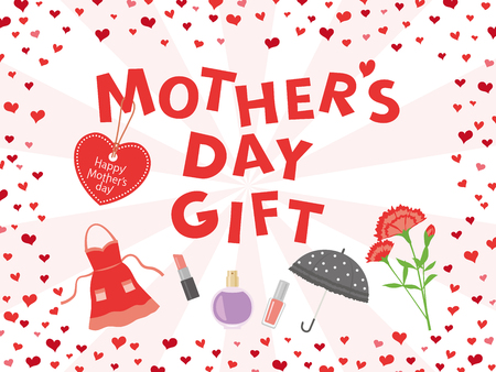 Mother's day gift advertisement vector poster. 矢量图像