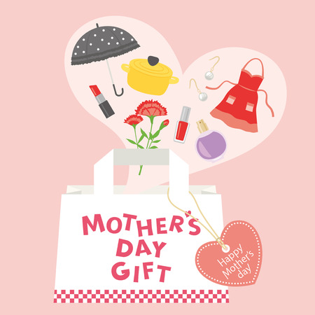 Mothers day gift advertisement vector poster.