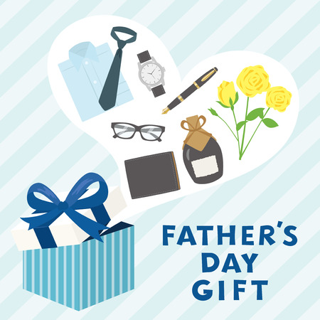 Father's day gift advertisement vector poster. Illustration